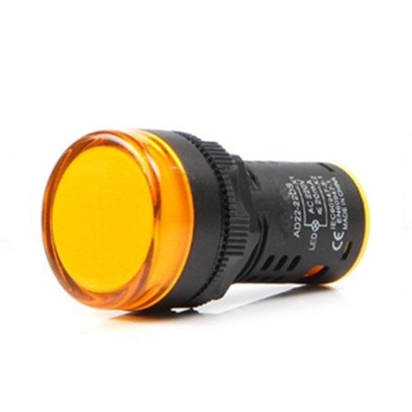 Индикаторна лампа AD16-22DS 24VAC/VDC жълта, LED