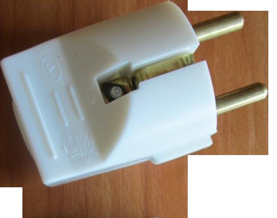 Бял щепсел 250VAC/16А бакелит