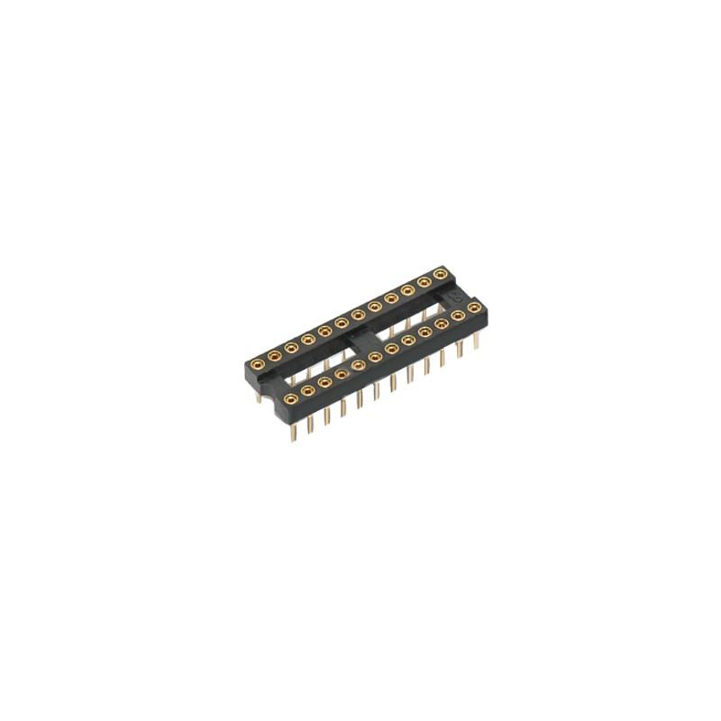 Цокли DIP 2.54 мм /кръгъл щифт/