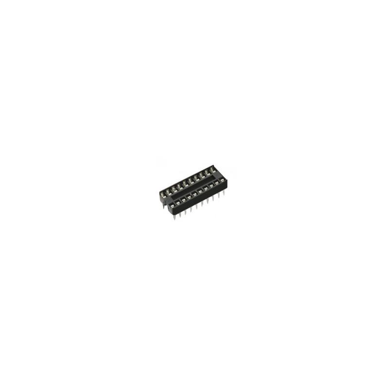 Цокли DIP 2.54 мм /плосък щифт/