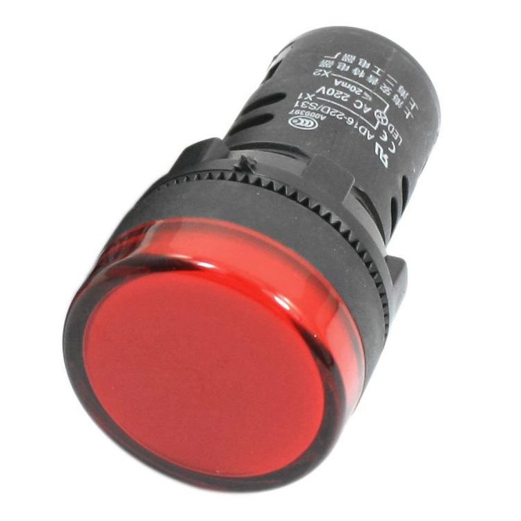 Индикаторна лампа AD16-22DS 24VAC/VDC червена, LED