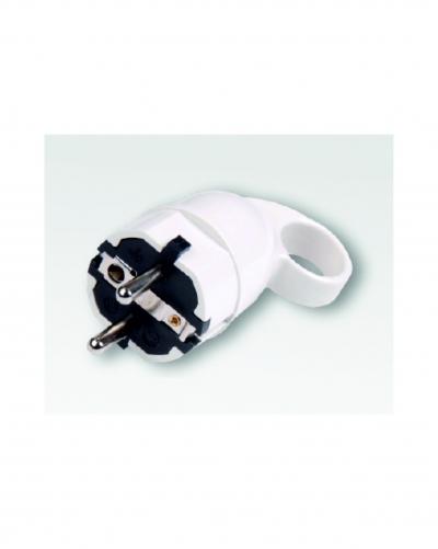 Бял щепсел 250VAC/16А с ухо