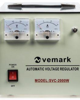Стабилизатор на напрежение SVC-2000WS, 2000VA, 220VAC, серво мотор