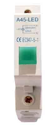 Индикаторна лампа A45-LED 220VAC зелена