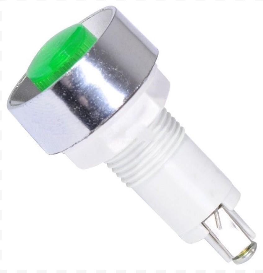 Индикаторна LED лампа XH020 12VDC зелена