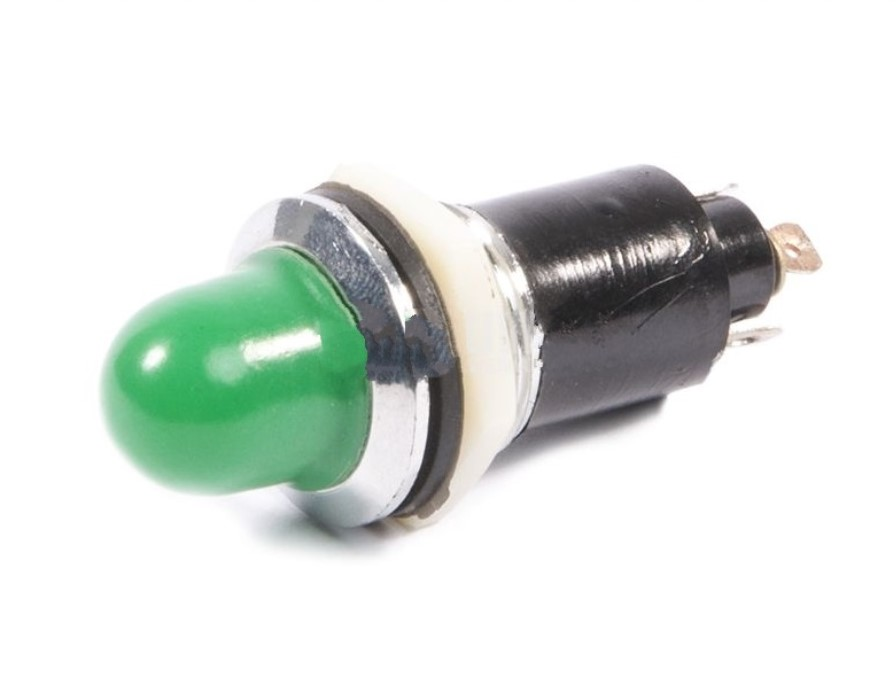 Индикаторна глим лампа DH16-1 12VDC ф16 mm зелена
