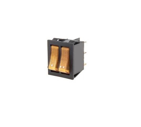 Клавишен превключвател MK321B/N 250VAC/15A жълт