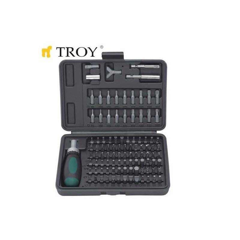 Комплект тресчотка с битове TROY T22309