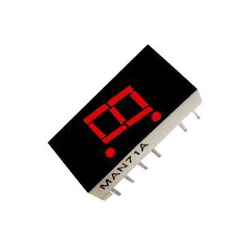 Цифров индикатор единичен MAN71A 7.62мм, общ анод, ЧЕРВЕН