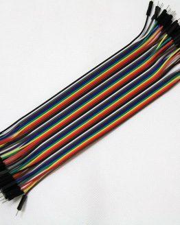 Комплект тестови кабелчета M/M AWG26,100mm,40бр. мъжки/мъжки