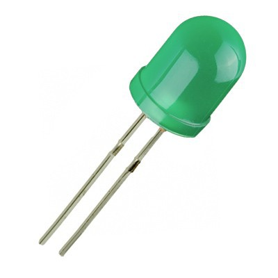 Светодиод, LED диод 10мм OSG5DUA164A-NO, 528nm 3000mcd 60deg, ЗЕЛЕН дифузен
