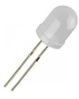 Свотодион, LED диод 10мм OSW5YKA162A-OP, 4200mcd 60deg, БЯЛ дифузен
