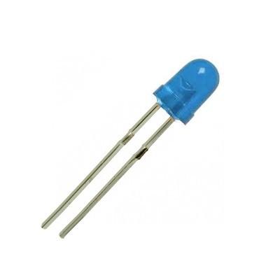 Светодиод, LED диод 3мм HT-204UBD, 400-600mcd 30deg, СИН дифузен