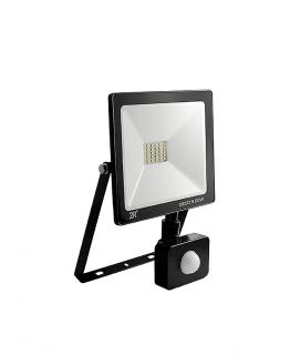 LED прожектор със сензор, 10W, 220VAC, 1000lm, 6000K, студенобял, IP65, влагозащитен