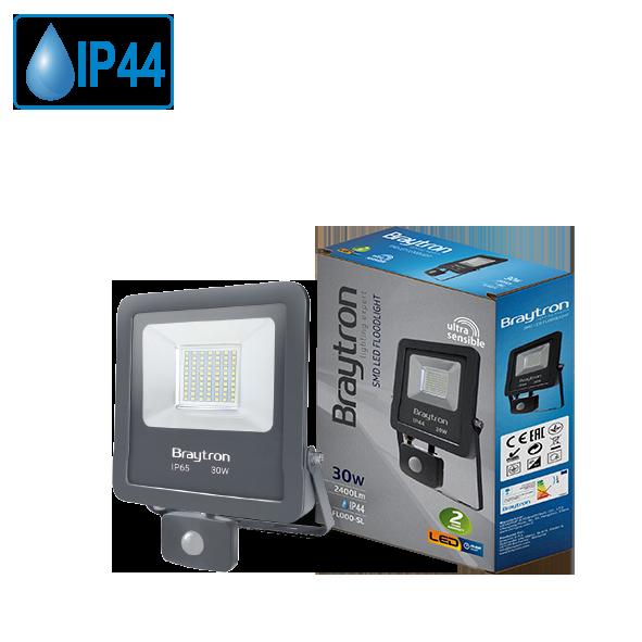LED прожектор със сензор BT61-23092 30W, студенобял, IP44