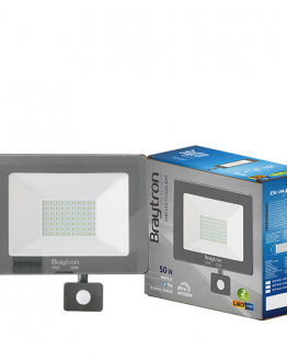 LED прожектор със сензор 50W BT60-25032, 220VAC, 4000lm, 6500K, студенобял, IP44, влагозащитен, SLIM
