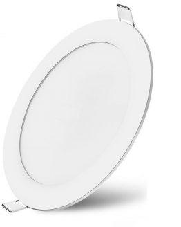 LED панел BP01-30600 6W за вграждане, кръг, 220VAC, 380lm, 3000K, топлобял, ф120mm, SLIM