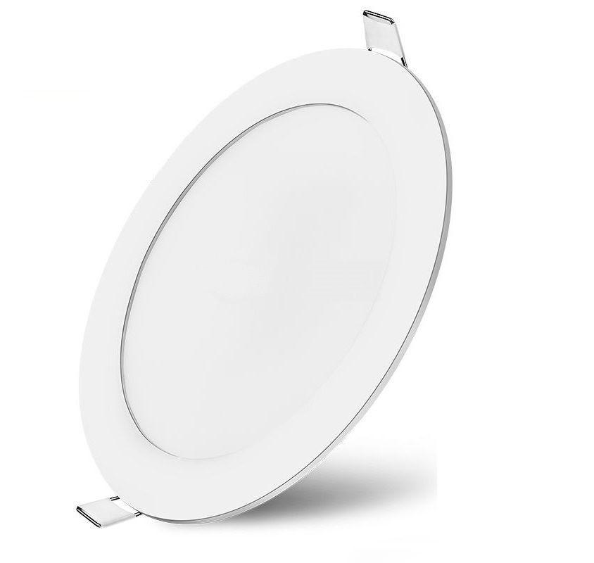 LED панел BP01-30630 6W за вграждане, кръг, 220VAC, 380lm, 6500K, студенобял, ф120mm, SLIM