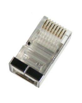 RJ45 8P/8C мъжки за кръгъл кабел, с екран