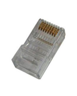 RJ45 8P/8C мъжки за плосък кабел