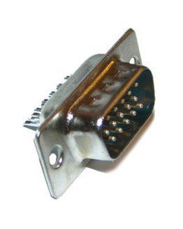 Съединител D-SUB 15P HD мъжки кабелен