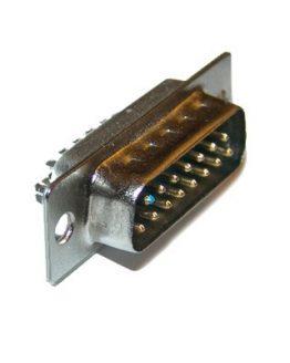 Съединител D-SUB 15 пина мъжки кабелен