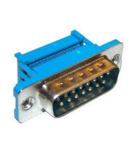 Съединител D-SUB 15P мъжки кабелен IDC