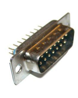 Съединител D-SUB 15P мъжки платков прав