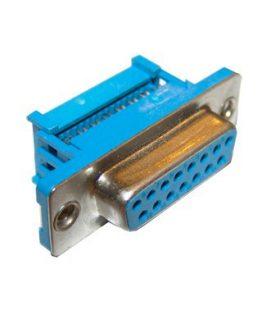Съединител D-SUB 15P женски кабелен IDC