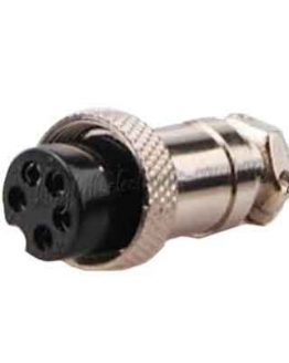 Съединител M16/IP40 5 пина женски кабелен
