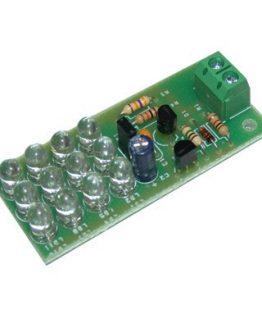 Светодиоден стробоскоп 12 LED син HK9918B