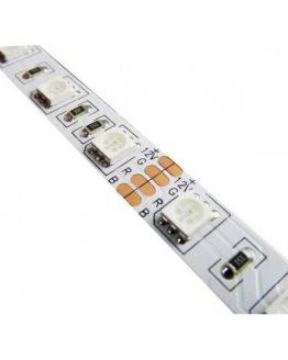 LED лента RGB 12VDC SMD5050, 60 диода на метър, 14.4W/m, IP20, невлагозащитена