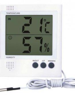 Термометър и влагомер RS8471, вътрешна и външна температура, със сонда