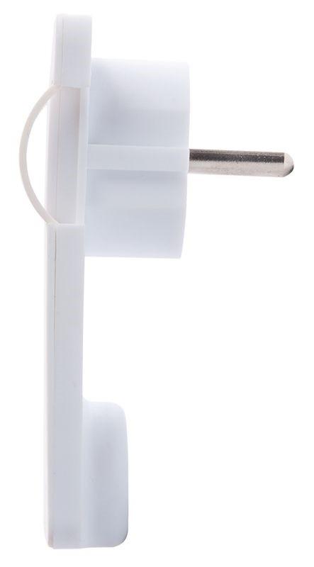 Бял щепсел 250VAC/16A правоъгълен