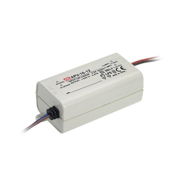 LED захранване APV-16-12V 12V 1.25A 15W