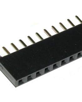 Рейка 2.54mm женска права 1x6pin за Arduino /P903.507/