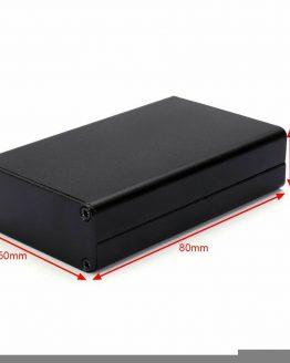 Алуминиева кутия 80x50x20mm, ЧЕРНА с панели /P912.087/