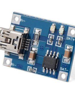 Модул TC4056, зарядно за литиева батерия 3.7V, mini USB вход