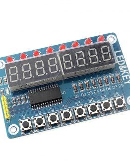 Модул 8-разряден LED дисплей + 8 бутона с TM1638 /P090.049/