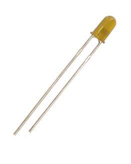 LED диод, светодиод 3мм KLS9-L-3014YD, 585nm 15mcd 60deg, ЖЪЛТ дифузен
