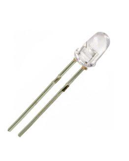 LED диод, светодиод 3мм FD-3TW30-1, 6500K 6000mcd 30deg, БЯЛ прозрачен