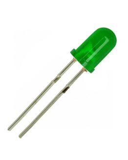 LED диод, светодиод 5мм HT-504GD, 530nm 800mcd 40deg, ЗЕЛЕН дифузен