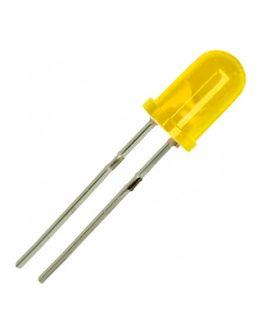 LED диод, светодиод 5мм KLS9-L-5013YD, 585nm 20mcd 60deg, ЖЪЛТ дифузен
