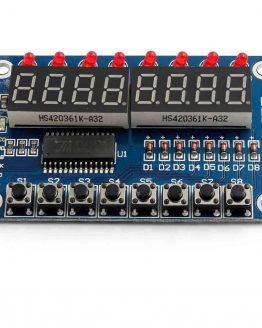 Платка 8-разряден LED дисплей + 8 бутона с TM1638 /P090.049/