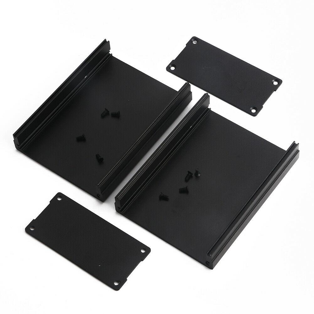 Алуминиева кутия 100x76x35mm, ЧЕРНА с панели /P912.091/