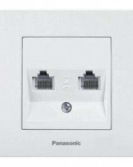 Розетка WKTC0406-2WH Cat5e RJ45 Panasonic бяла