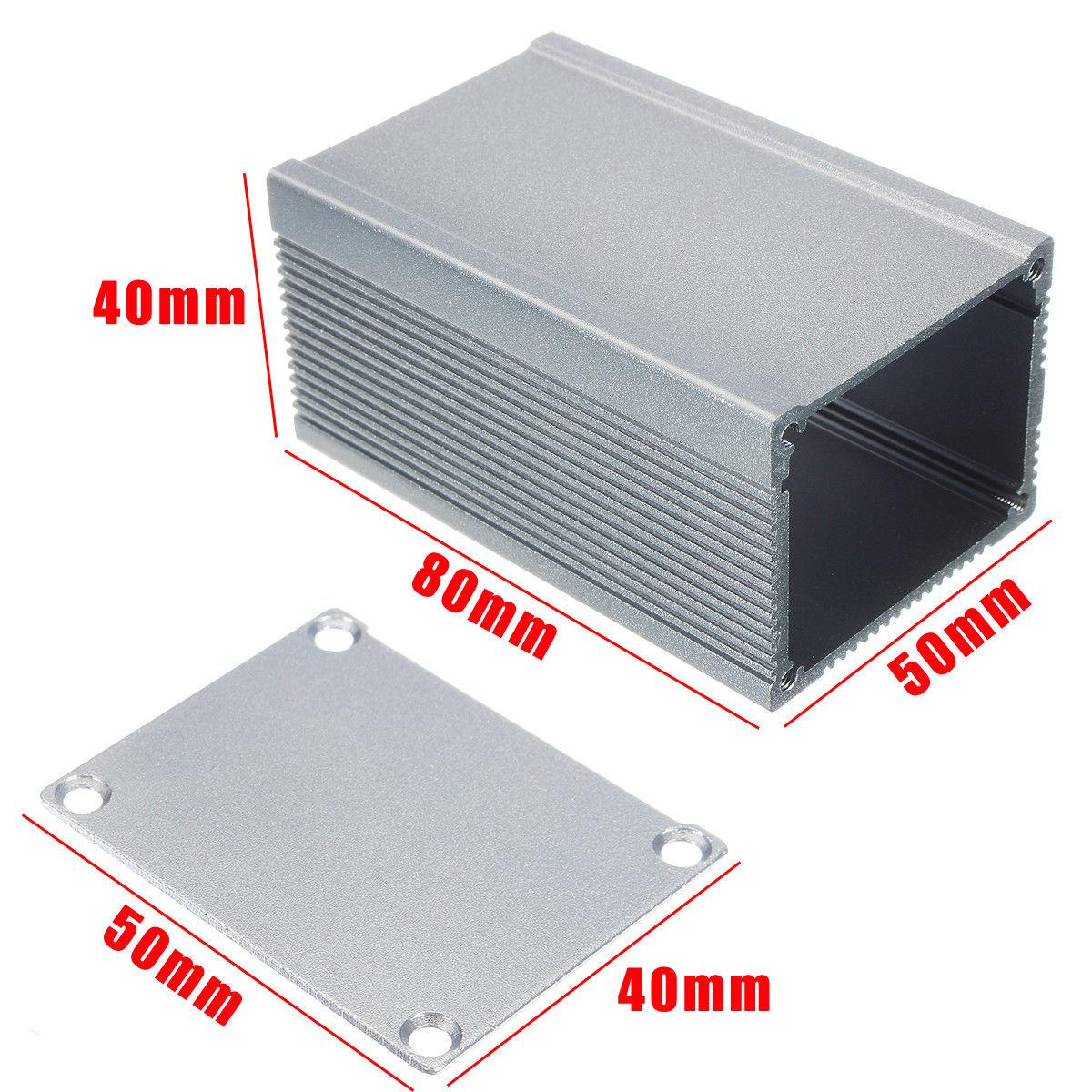 Алуминиева кутия 80x50x40mm, СРЕБРИСТА с панели /P912.095/