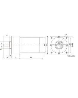 Електродвигател с редуктор VFGA60FHH-22i 24VDC