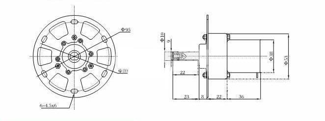 Електродвигател с редуктор V3KT-38ZY-13-253i 12VDC