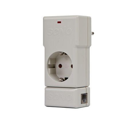 Защита за компютри Sono WP230LT Шуко+LAN/RJ-45